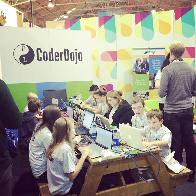 Youngsters coding at Web Summit - Coder Dojo, Dublin 2014