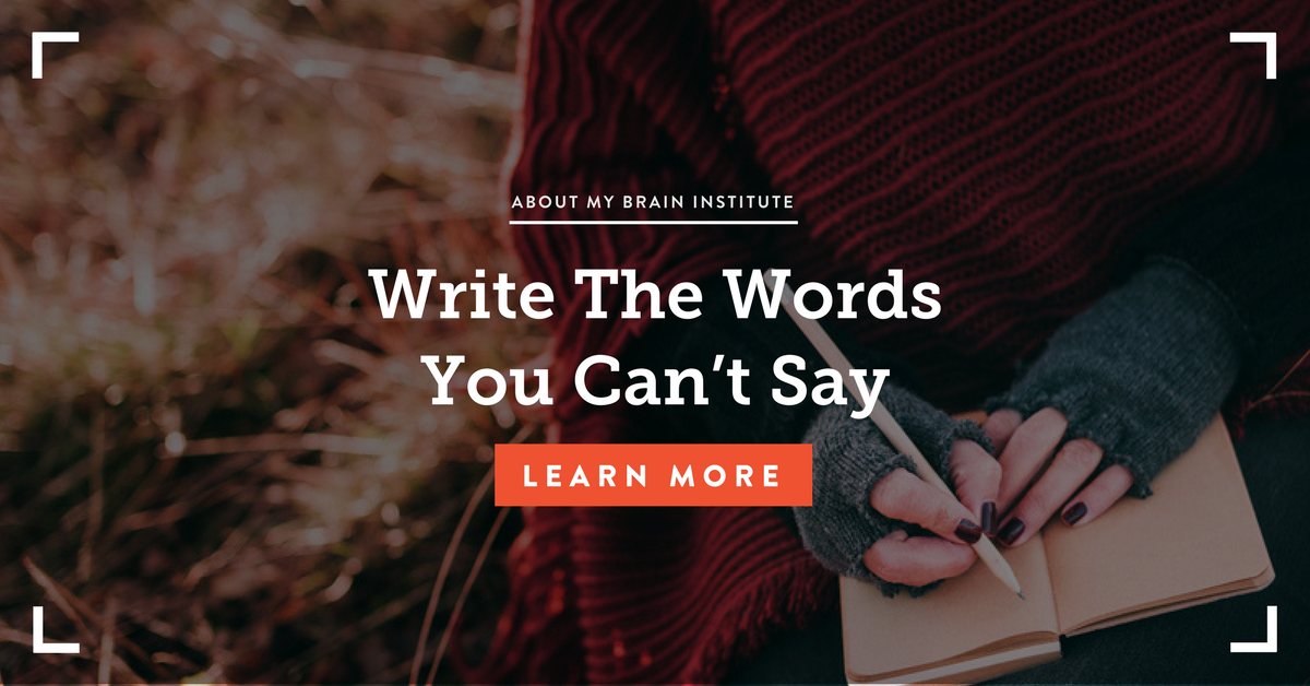 Write The Words You Can't Say